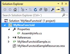 BizTalk MapperExtensions Functoid Wizard: Project Sctructure