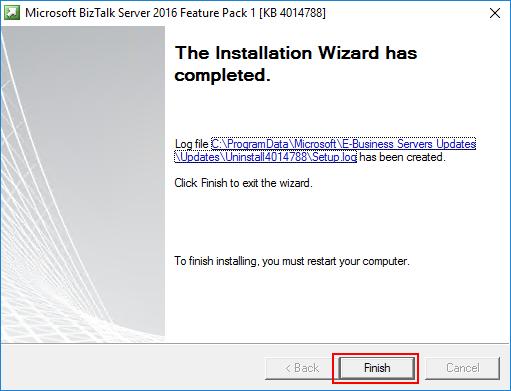 BizTalk Server 2016 Feature Pack 1 Complete