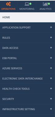 biztalk360 operations menu