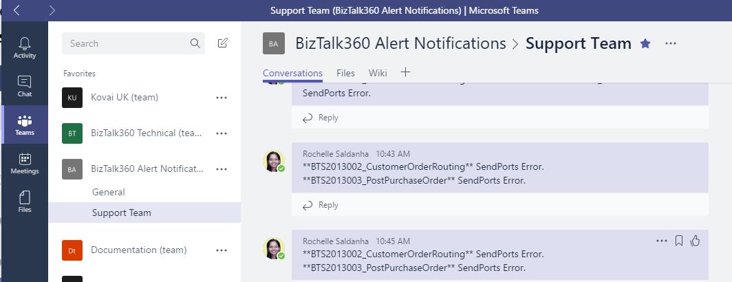 Integrating Microsoft Teams as a Notification channel in BizTalk360