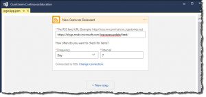 RSS Trigger Configuration