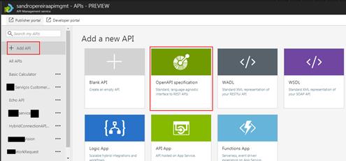 import a Postman: Azure API Management Add API
