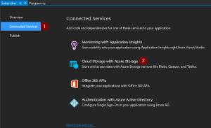 Add Azure Storage