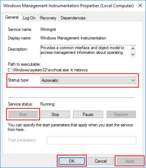 BizTalk Server Administration Console cannot connect to WMI provider: Winmgmt service