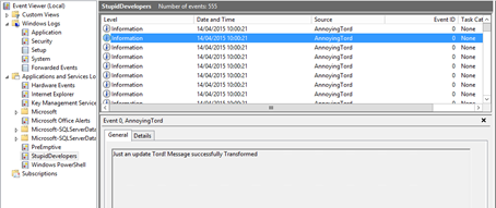 Moving Event Source: moving source logs to another event log