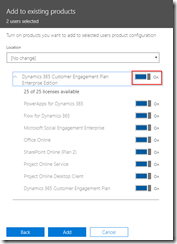 Assign Dynamics 365 trial licenses