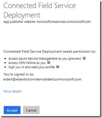 Accept deployment