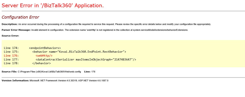 "solving ""webHttp"" issue in BizTalk360"