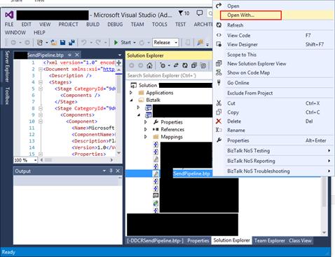 BizTalk Pipeline does not open with BizTalk Pipeline Editor: Visual Studio Pipeline open with