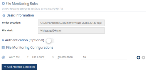 BizTalk360 Folder Monitoring