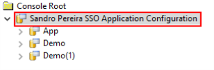 SSO Application Configuration: Rootname