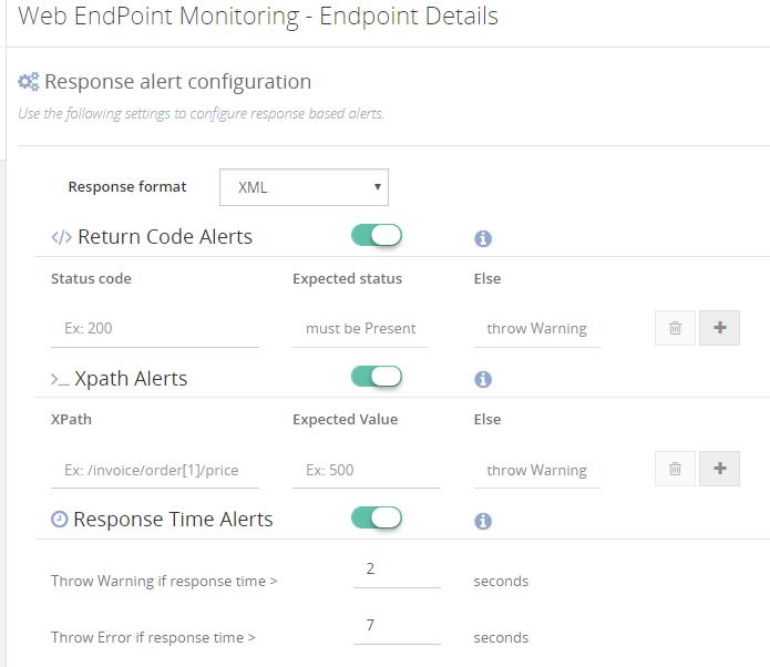BizTalk360 Web Endpoint Monitoring - Endpoint details