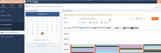 Data monitoring filter option BizTalk360 v8.7 release