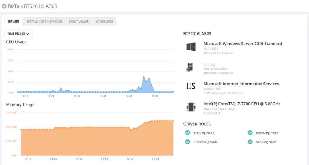 Detailed view BizTalk server