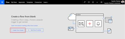 Flow's to the help: SmartDocumentor Listener Flow Create a blank Microsoft Flow