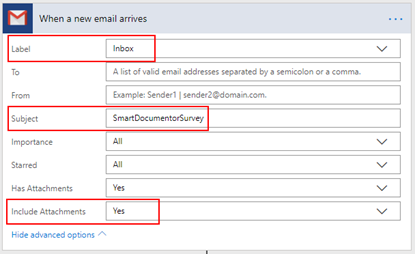 Flow's to the help: SmartDocumentor Listener Flow Trigger Gmail Configuration