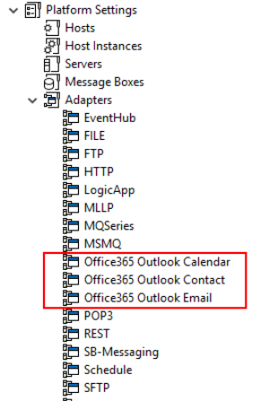 BizTalk Server 2016 Feature Pack 3: New Office 365 Adapters