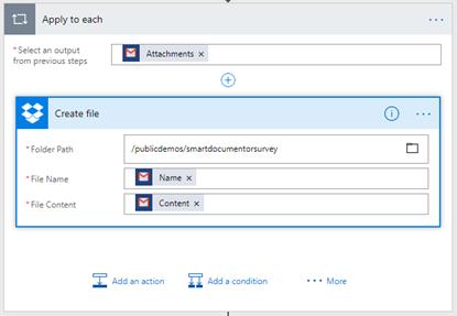 Flow's to the help: SmartDocumentor Listener Flow Dropbox create file Configuration
