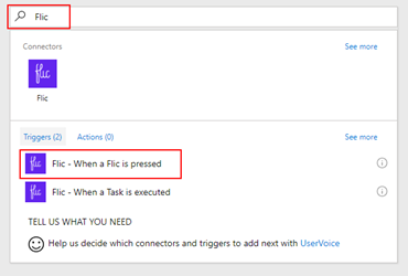 Microsoft Flow Flic Trigger