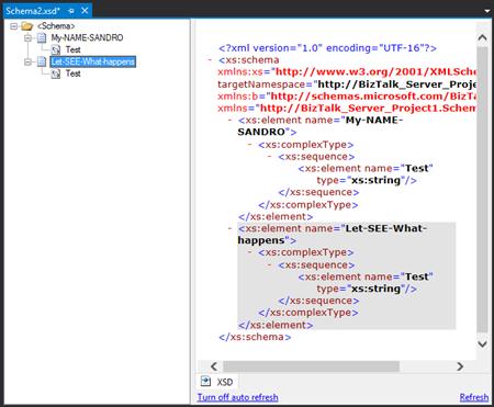 BizTalk Schema: Invalid type name error