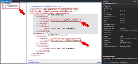 BizTalk Schema: Invalid type name error resolved