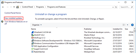 An internal failure occurred for unknown reasons (WinMgmt) uninstall security updates