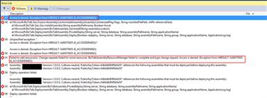 Visual Studio: BizTalk Server deployment fails