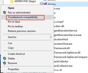 Visual Studio: troubleshoot compatibility
