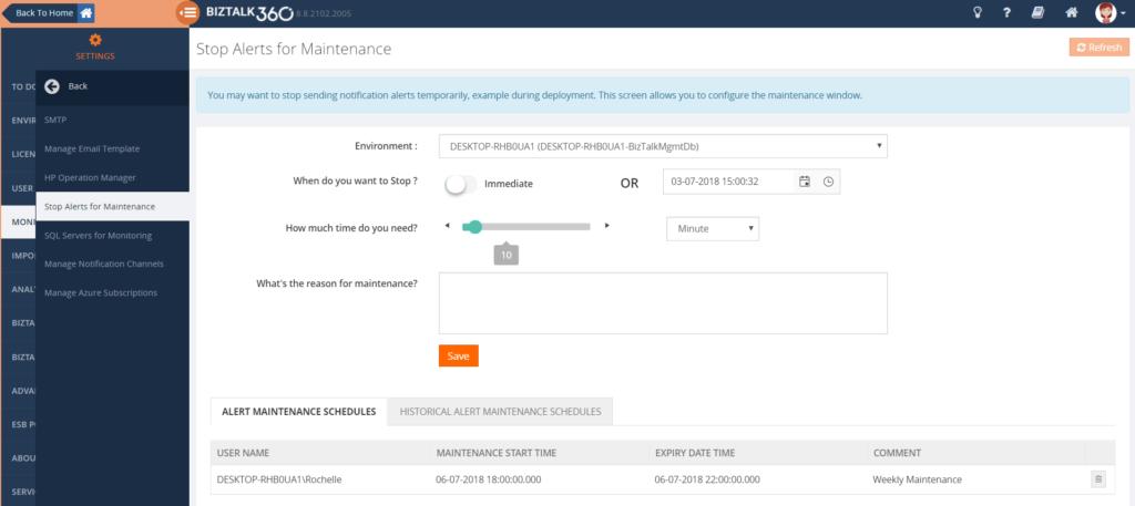 Setup multiple Maintenance Windows: configuration settings