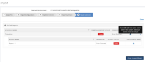 Result summary - Error on Duplicate in BizTalk Reports