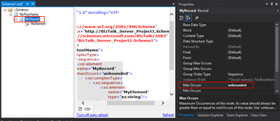 Another way to set unlimited occurrences on schema elements