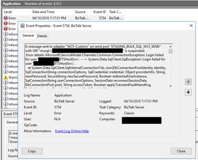 BizTalk Server WCF-SQL: Login failed for user