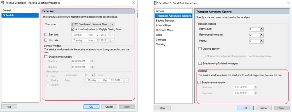 BizTalk Server Controlled Throttling: Port Configuration