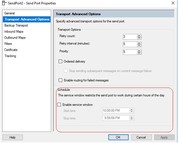BizTalk Server Controlled Throttling: Send Port Properties