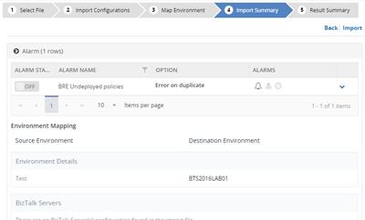 01.8-BizTalk360-Import-Alarm-import-summary