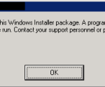 BizTalk Server MSI installation error: There is a problem with this Windows Installer package