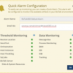 Easily set up monitoring with Quick Alarms