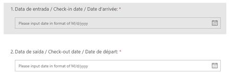 Microsoft Form: add date questions