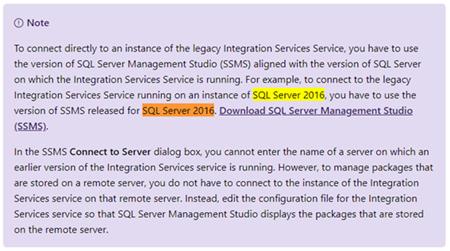 BizTalk Server and SSIS: Documentation about versions