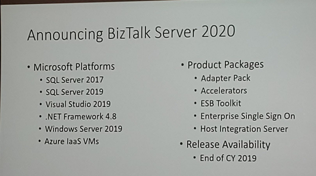 BizTalk Server 2020 Announcement