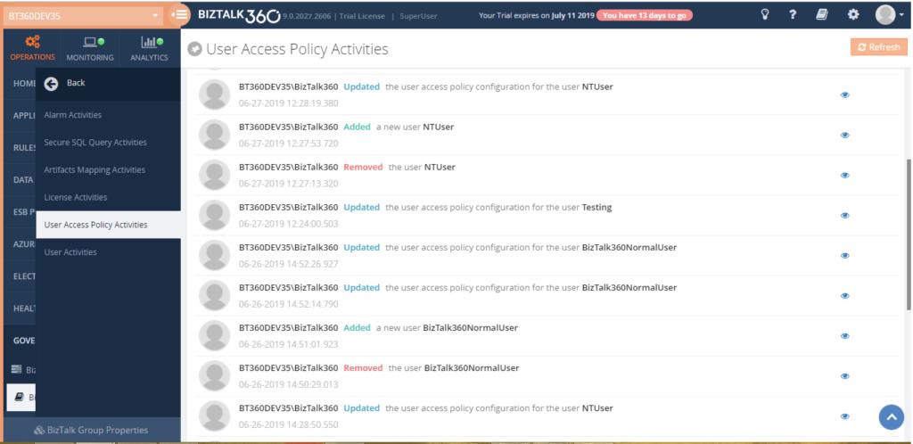 UserAccessPolicy Activities