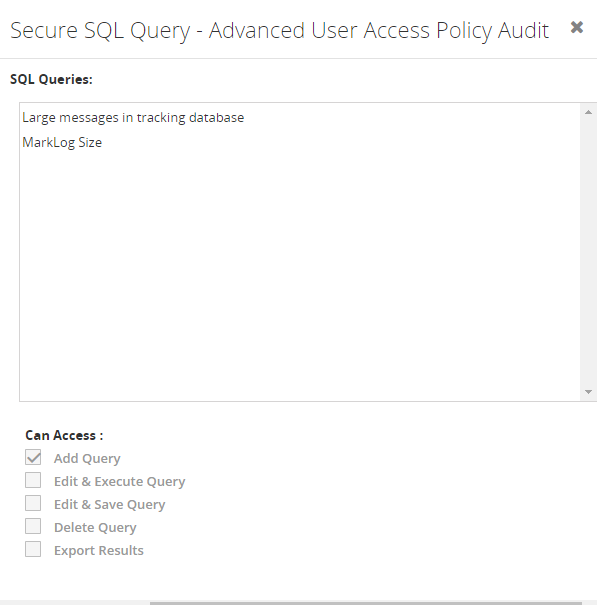 Secure SQL Query - Inner level audit creation