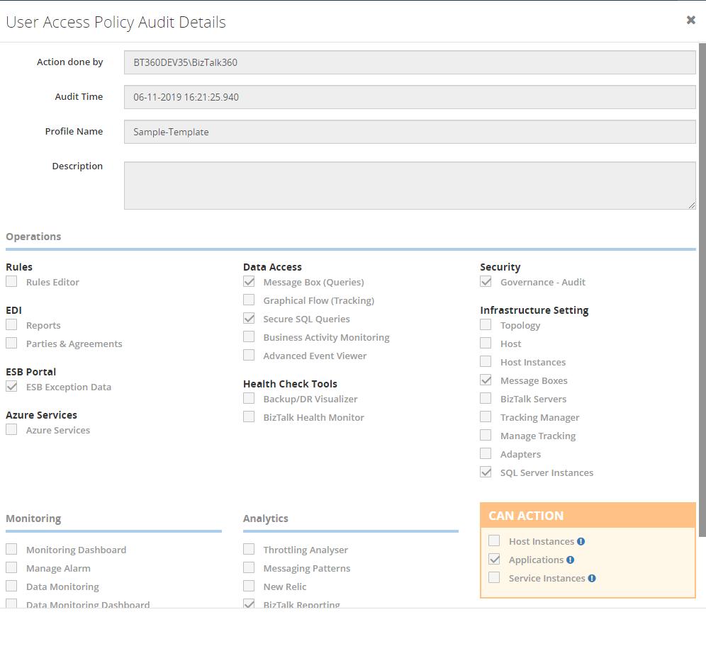 User Profile Template creation