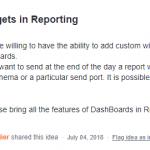 Analytics Custom Widgets in Reporting