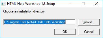 install HTML Help Workshop compiler