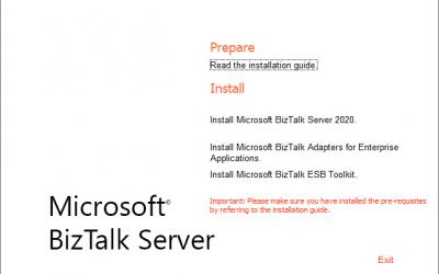 Configuring ESB in BizTalk Server 2020