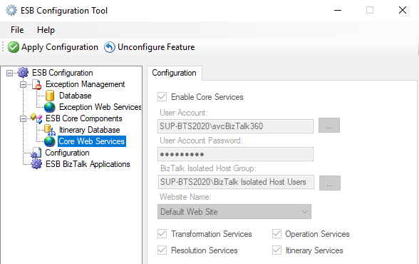 ESB-Configuration-Tool-Core-Web-Services