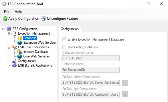 ESB-Configuration-Tool-Database