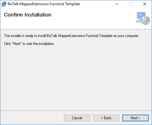BizTalk Server 2020 MapperExtensions Functoid Wizard Confirm Screen
