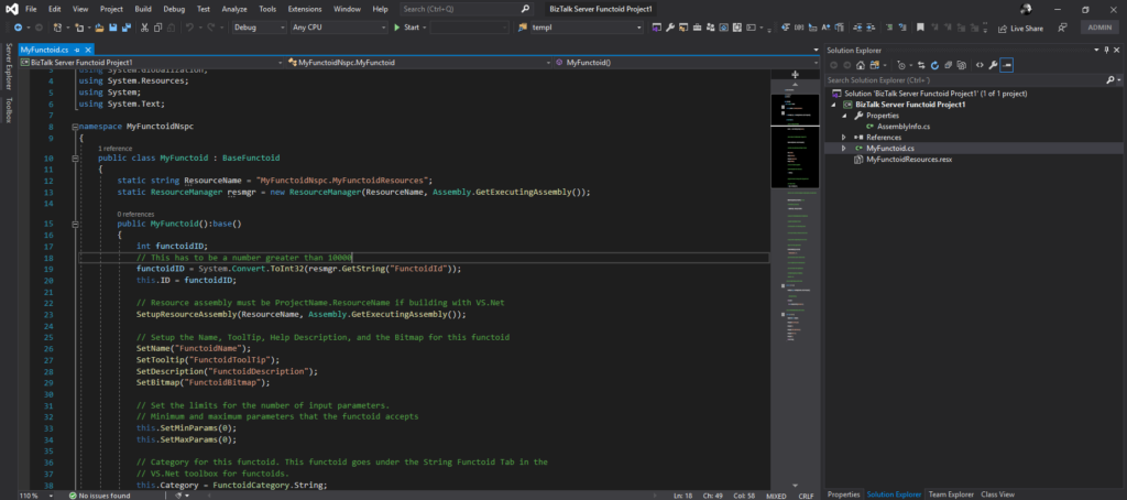 Visual Studio 2019 BizTalk Server Functoid Project sample